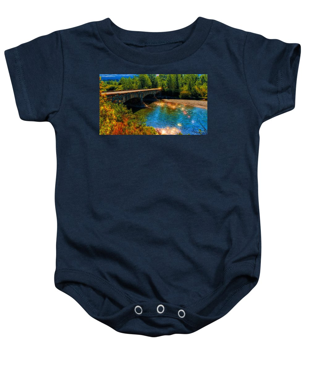Sunset Baby Onesie featuring the photograph A Gathering Of Faeries by John M Bailey