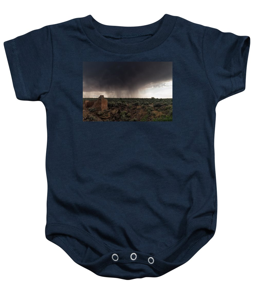 Ancestral Puebloans Baby Onesie featuring the photograph A Navajo 'male' Rain by Charlie Choc