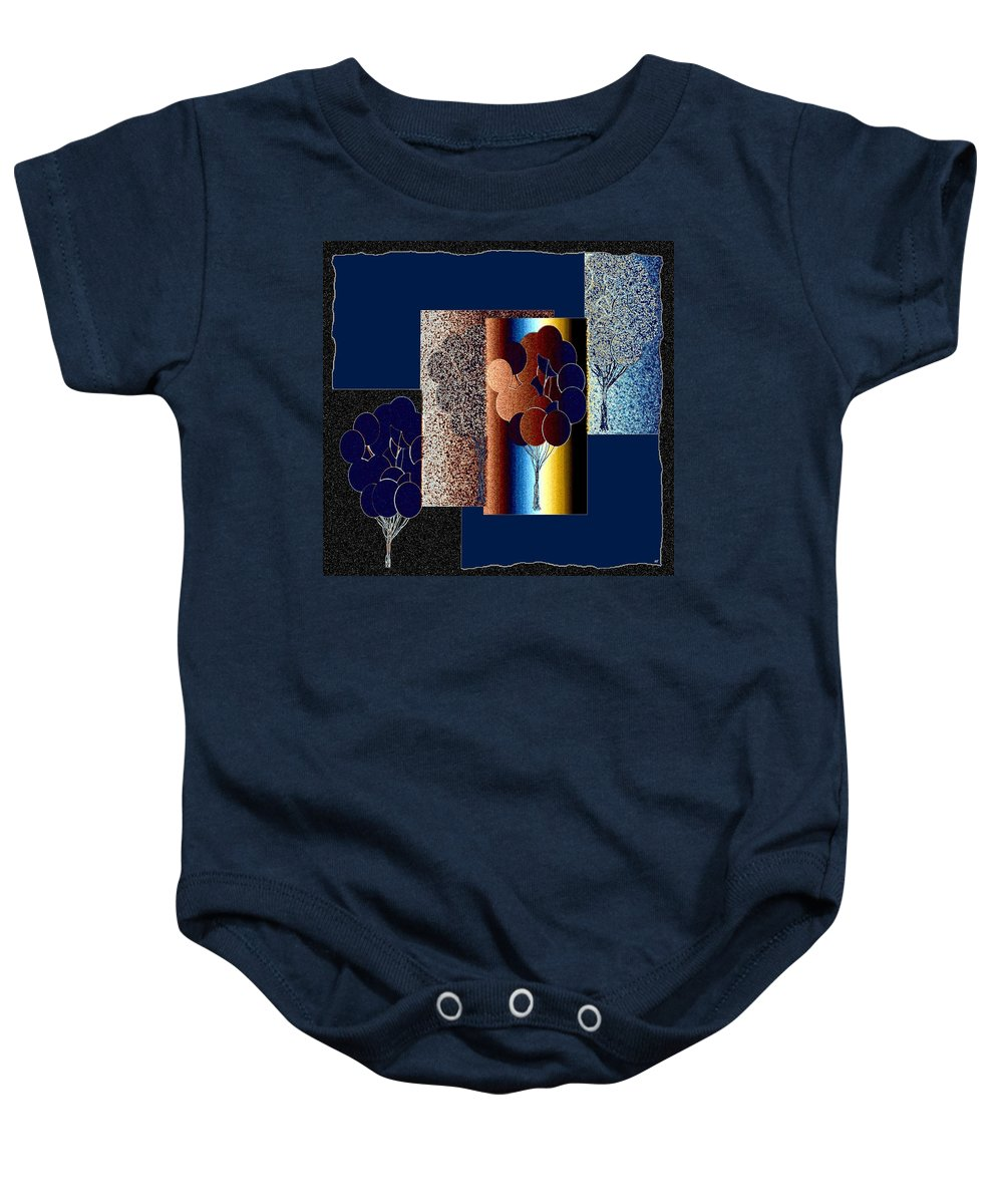 Abstract Fusion Baby Onesie featuring the digital art Abstract Fusion 191 by Will Borden