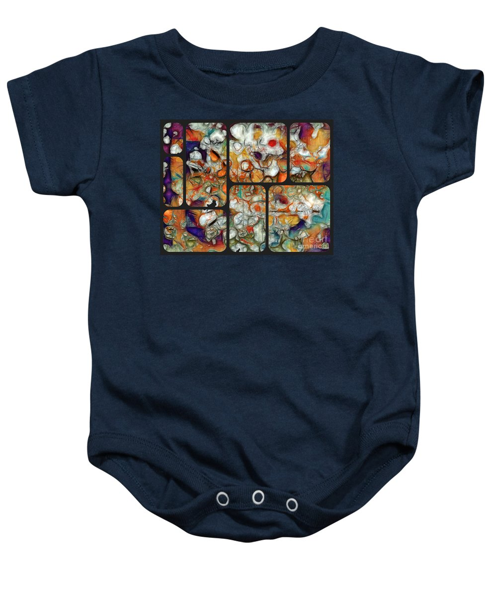 Abstract Baby Onesie featuring the digital art Abstractionnel -29a02 by Aimelle