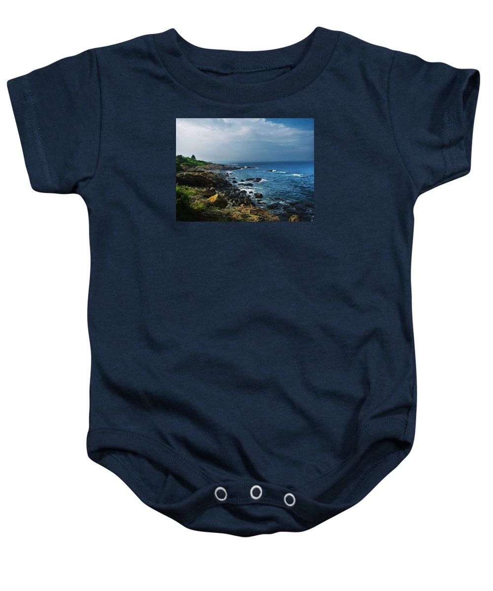 Ogunquit Baby Onesie featuring the photograph Along The Marginal Way by Diane Valliere