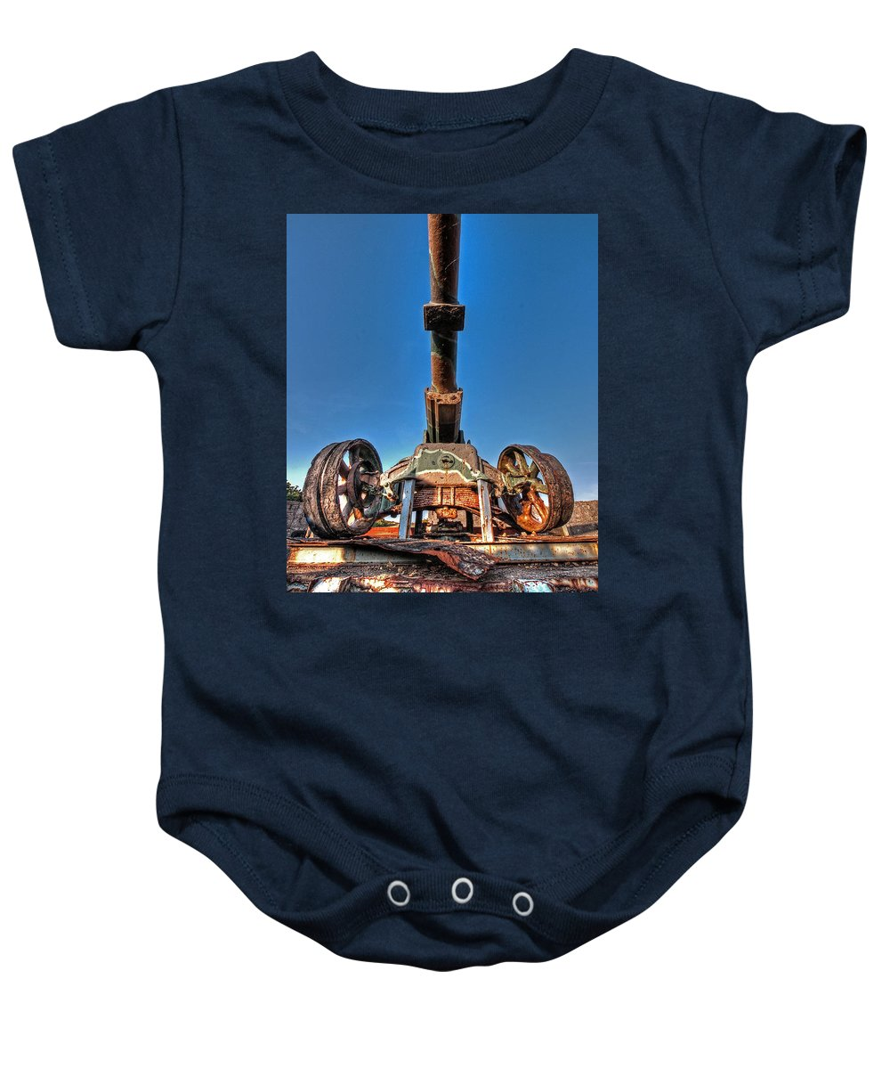Cannon Baby Onesie featuring the photograph Ancient Cannon From Ww2 by Gill Billington