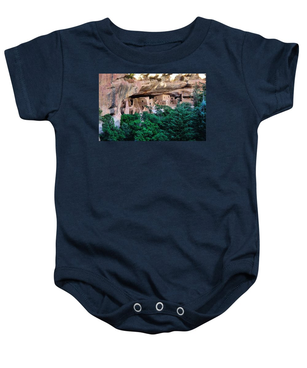 Mesa Verde National Park Photograph Baby Onesie featuring the photograph Ancient Houses by Dan Sproul