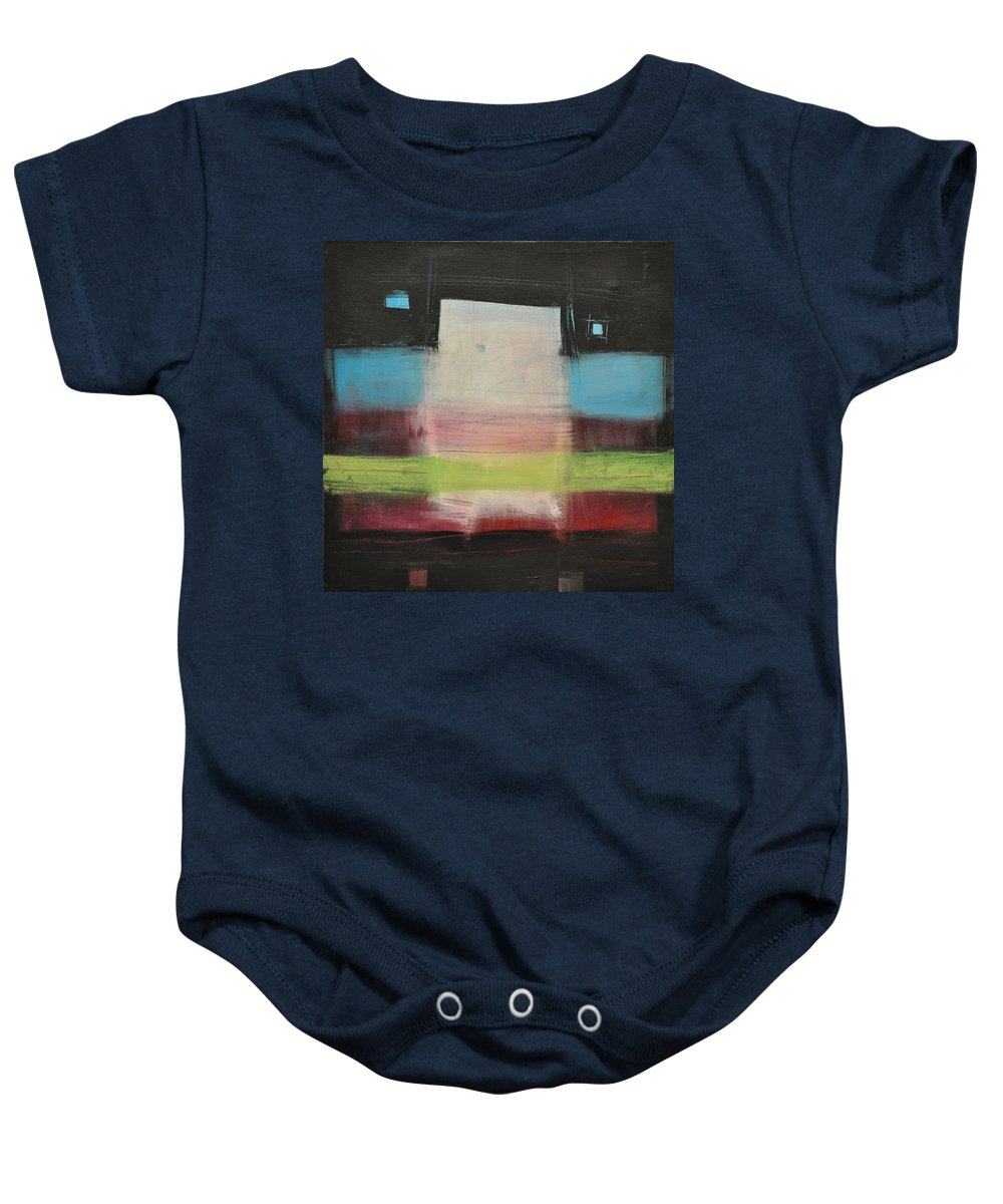 Abstract Baby Onesie featuring the painting Aphex Twin by Tim Nyberg