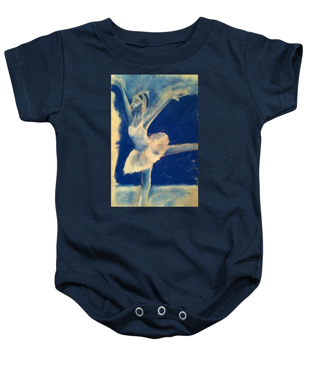 Dancer Baby Onesie featuring the pastel Arabesques by Alana Meyers