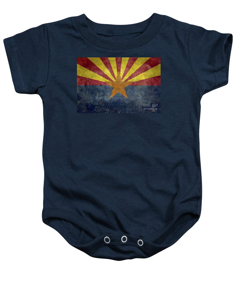 Usa Baby Onesie featuring the digital art Arizona State Flag by Bruce Stanfield