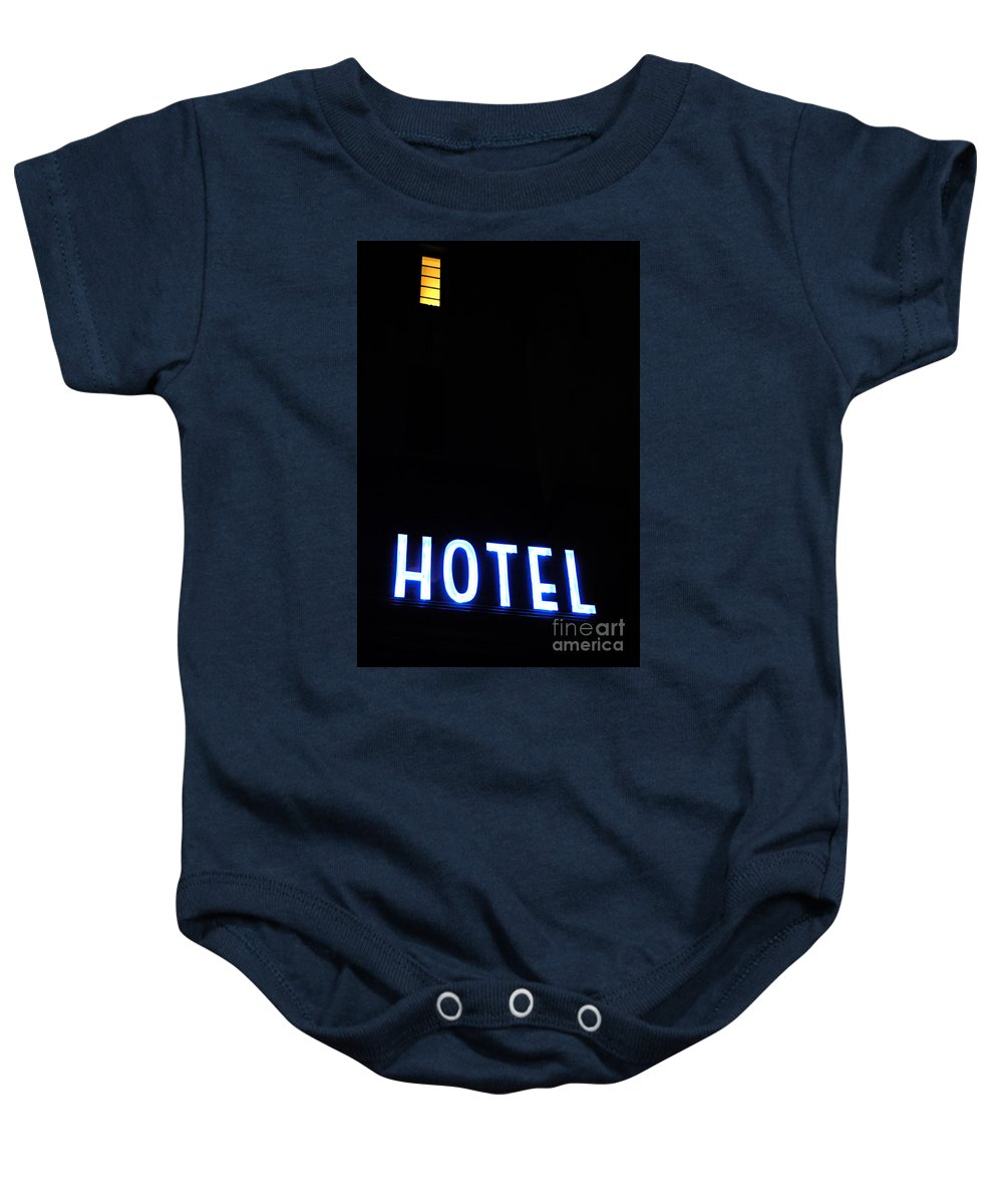 Neon Baby Onesie featuring the photograph Art Deco Miami 1 by Bob Christopher