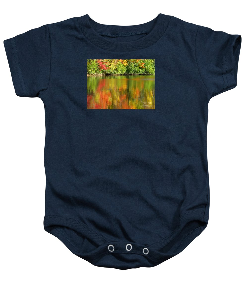 Autumn Baby Onesie featuring the photograph Autumn Brilliance by Ann Horn