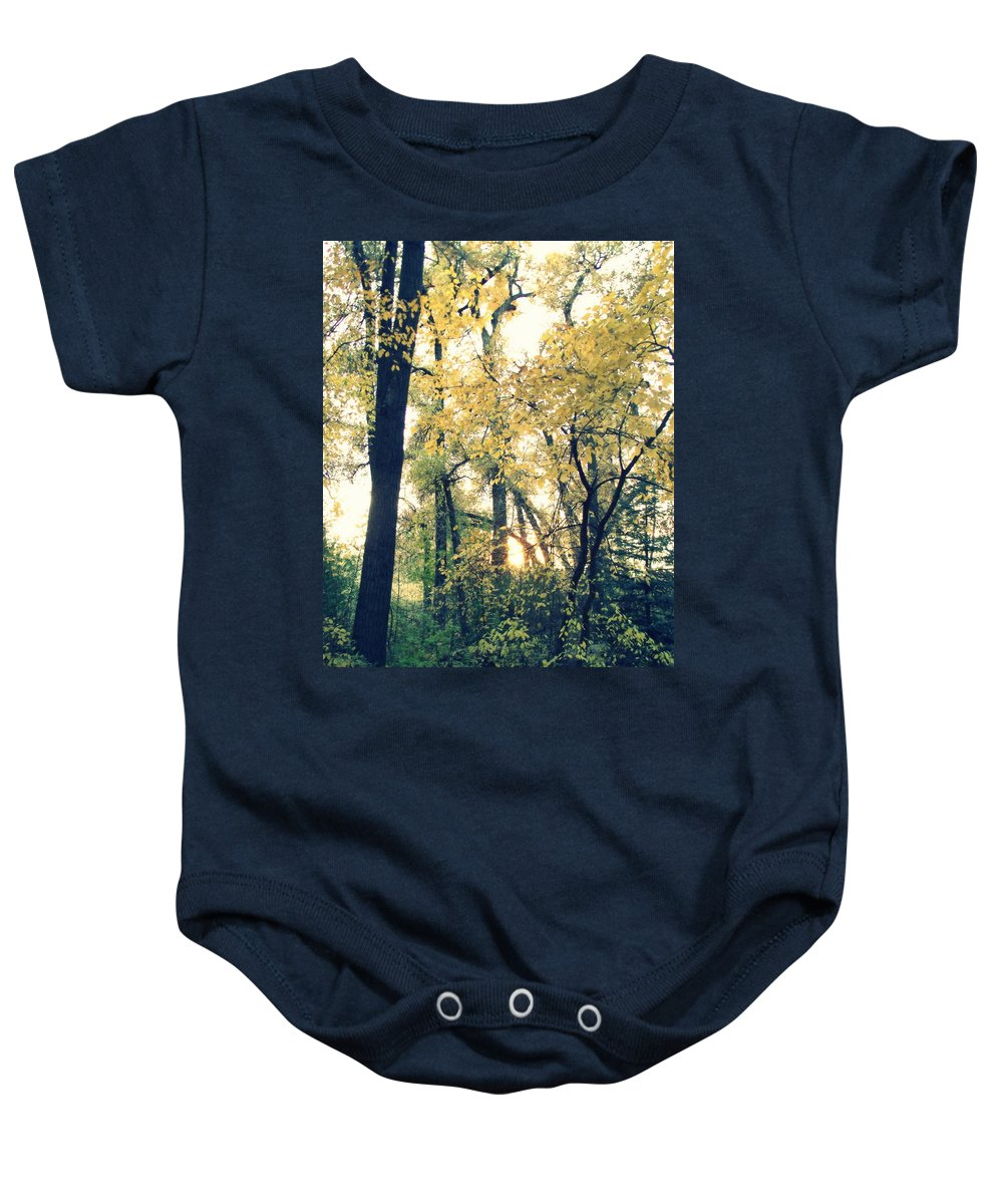 Fall Colors Baby Onesie featuring the photograph Autumn Evening by Jessica Myscofski