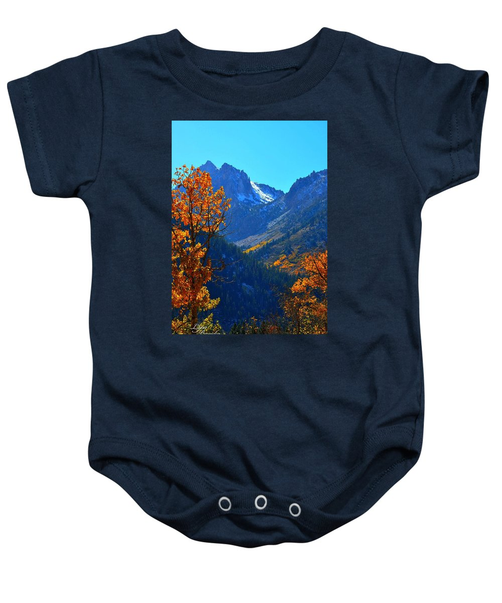 Mountains Baby Onesie featuring the photograph Autumn In The Sierras by Lynn Bawden