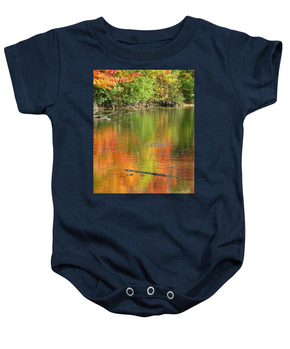 Autumn Baby Onesie featuring the photograph Autumn Jewel by Ann Horn