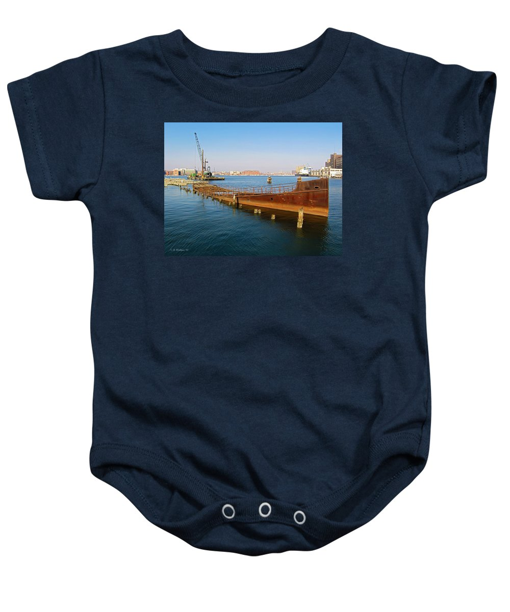 2d Baby Onesie featuring the photograph Baltimore Museum Of Industry by Brian Wallace