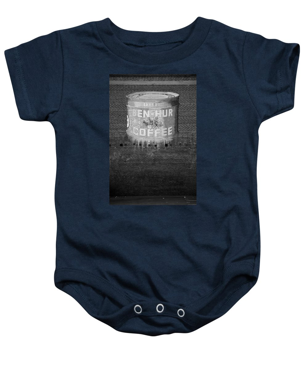Ben Hur Coffee Baby Onesie featuring the photograph Ben Hur Coffee by Peter Tellone