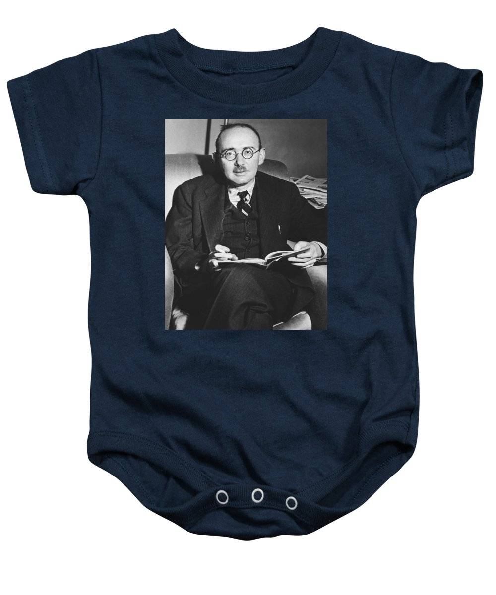 1944 Baby Onesie featuring the photograph Benet Wins Pulitzer For Poetry by Underwood Archives