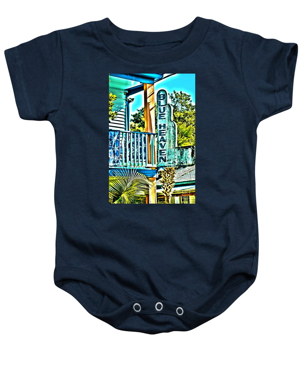 Blue Heaven Baby Onesie featuring the photograph Blue Heaven in Key West - 1 by Susanne Van Hulst