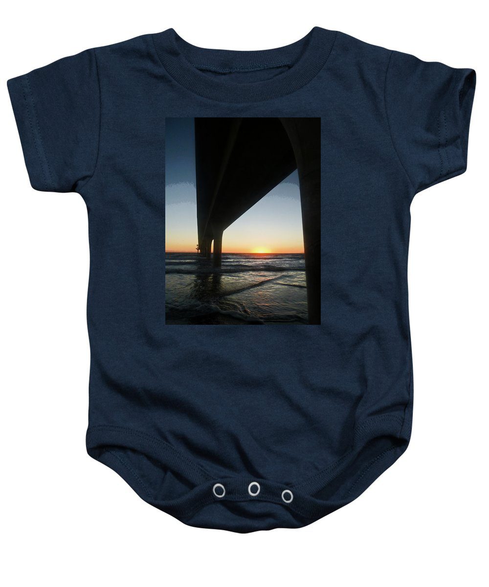 New Zealand Baby Onesie featuring the photograph Breaking Dawn by Steve Taylor