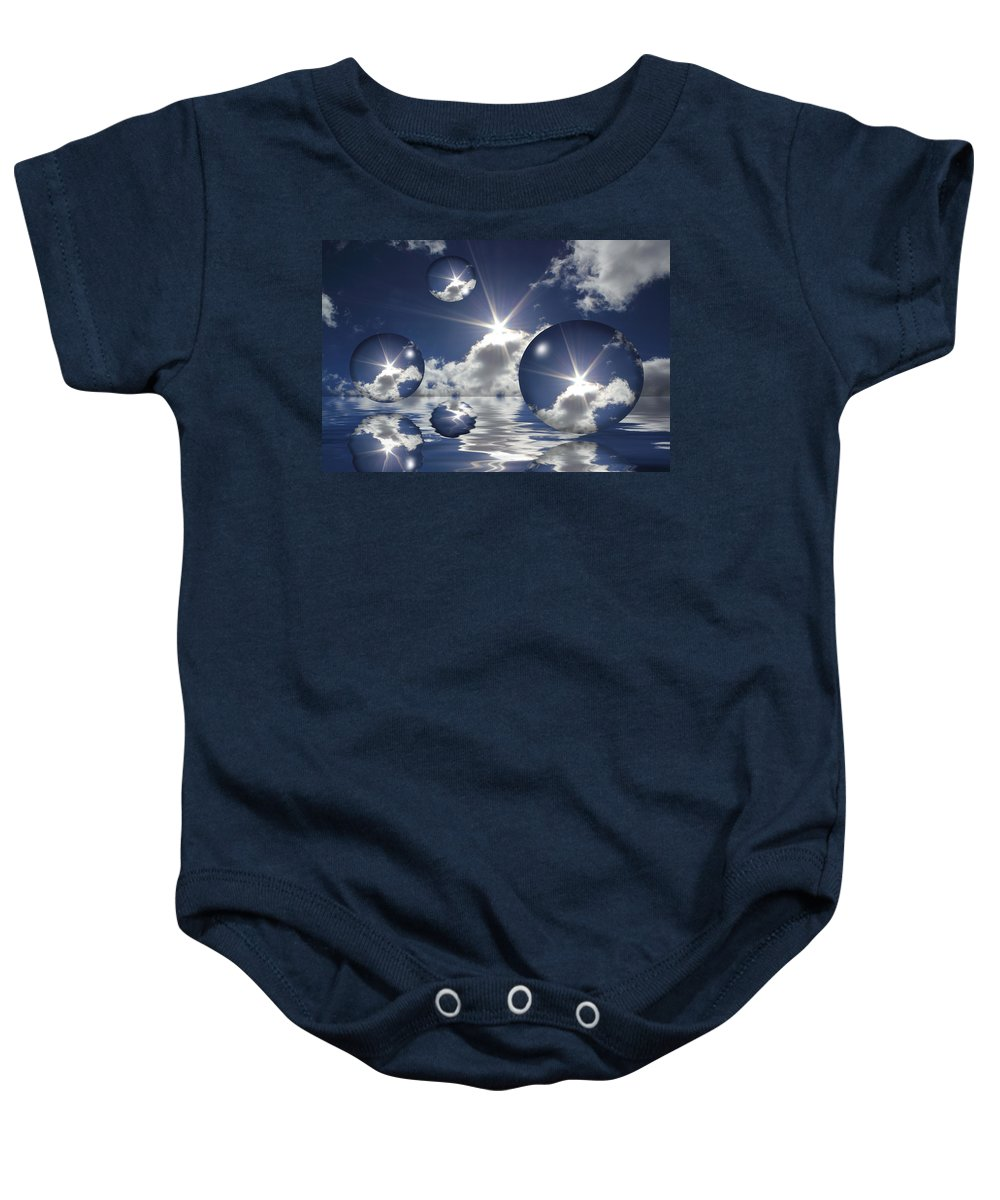 Bubbles Baby Onesie featuring the photograph Bubbles In The Sun by Shane Bechler