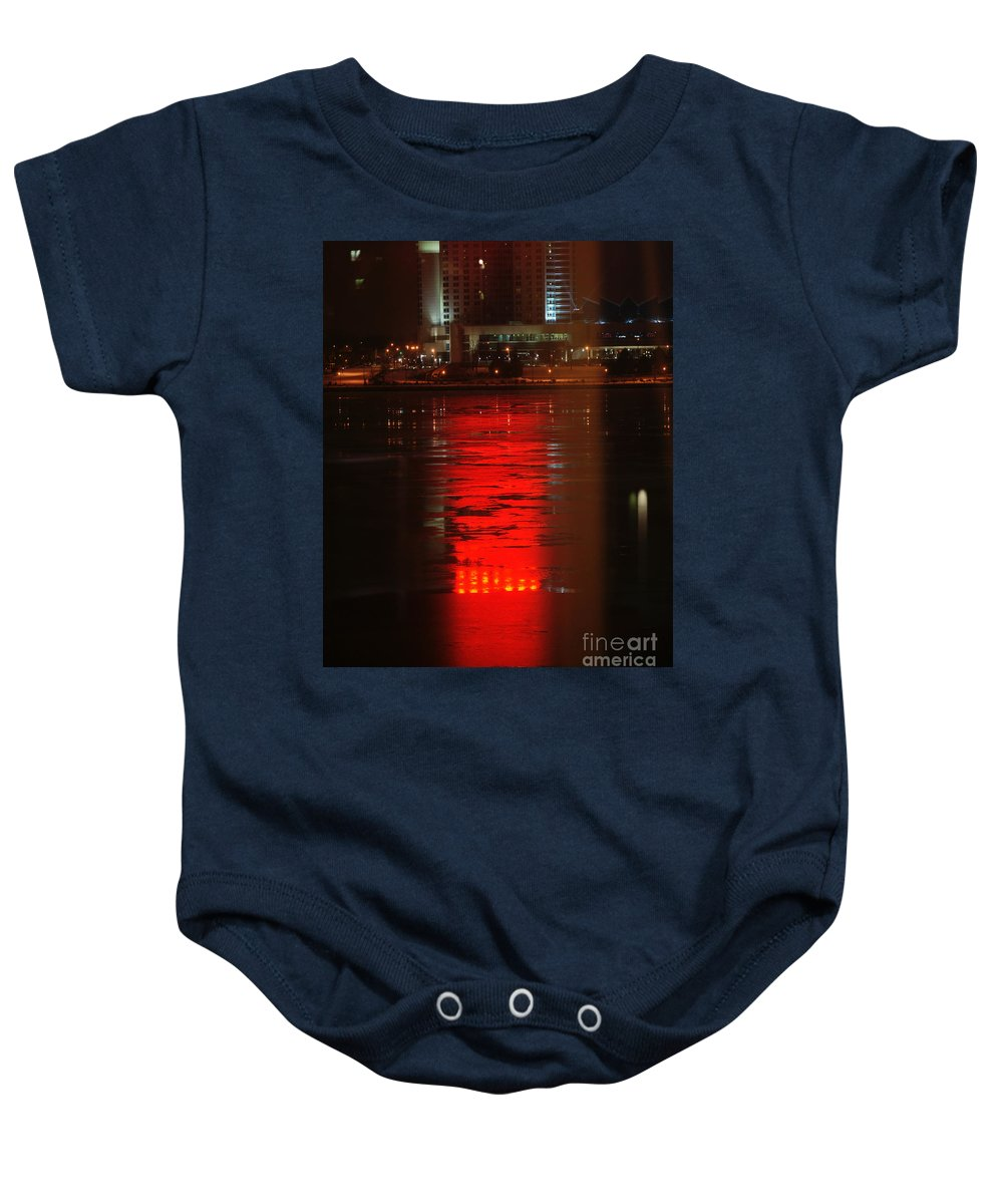 Winter Baby Onesie featuring the photograph Caesars Reflection by Linda Shafer