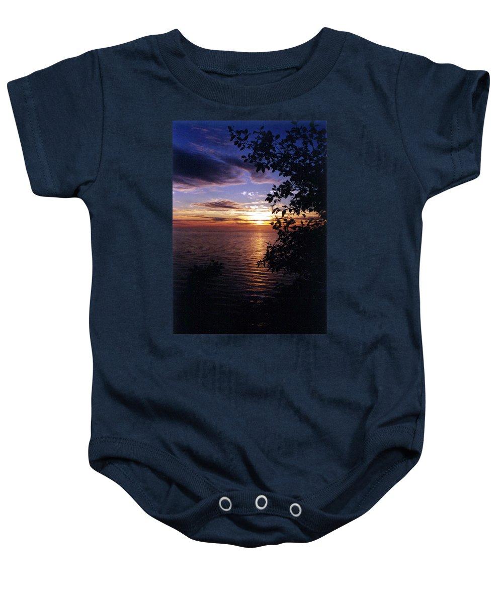 Oregon Coast Baby Onesie featuring the photograph Cape Perpetua Sunset by Loren McNamara