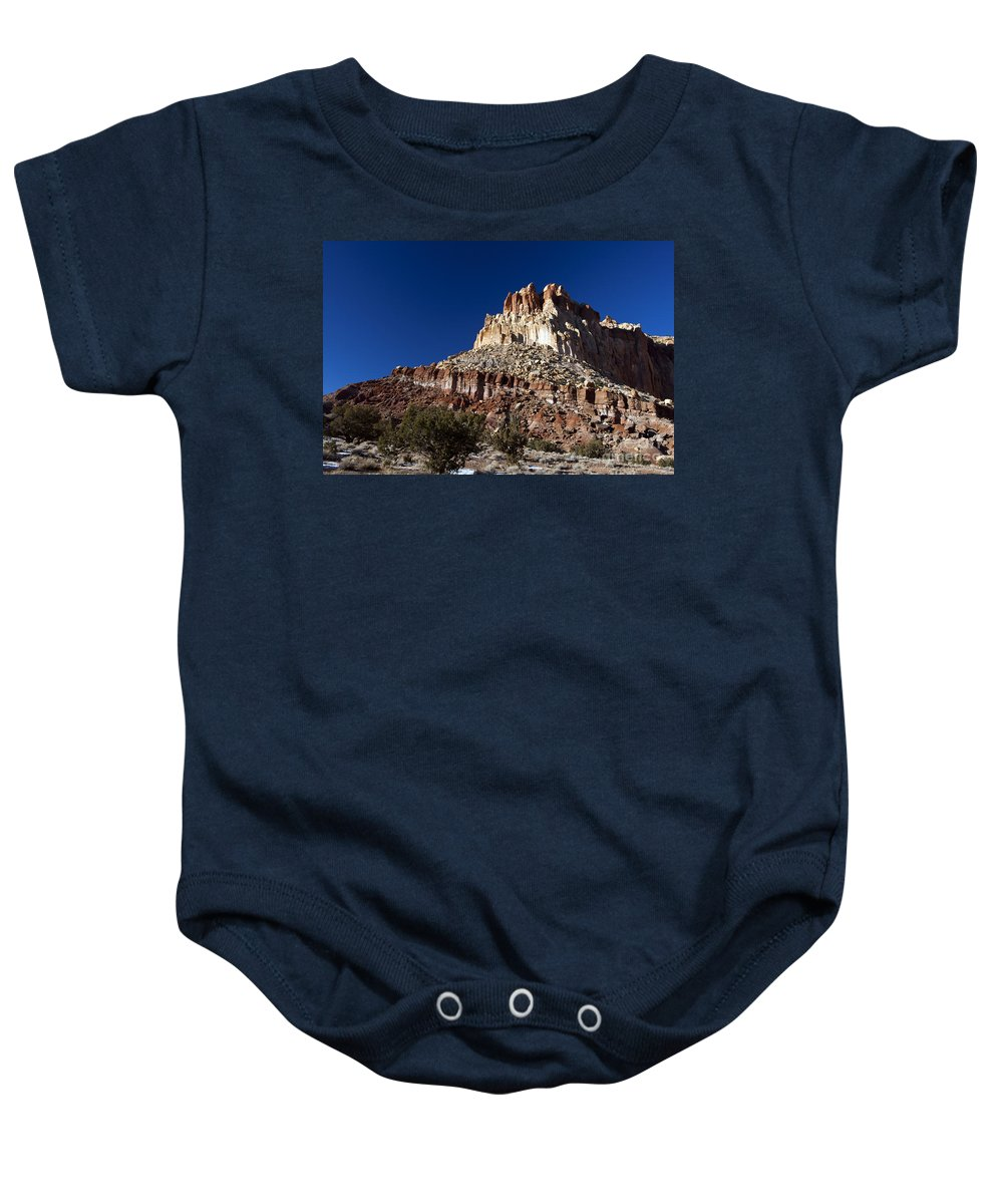 Capitol Reef Baby Onesie featuring the photograph Capitol Reef National Park Utah by Jason O Watson