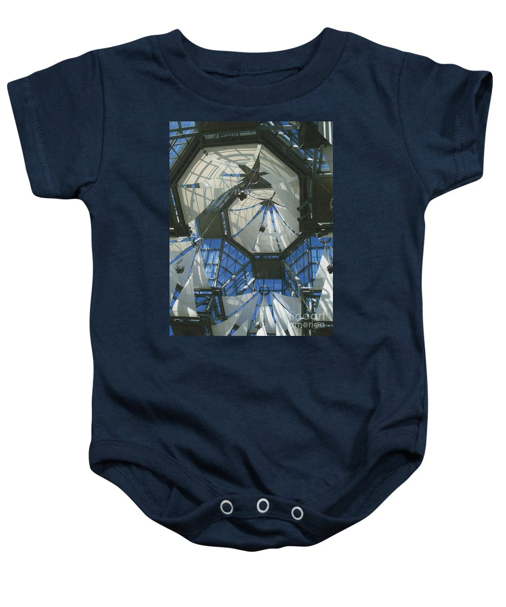 First Star Baby Onesie featuring the photograph Ceiling Sails by First Star Art