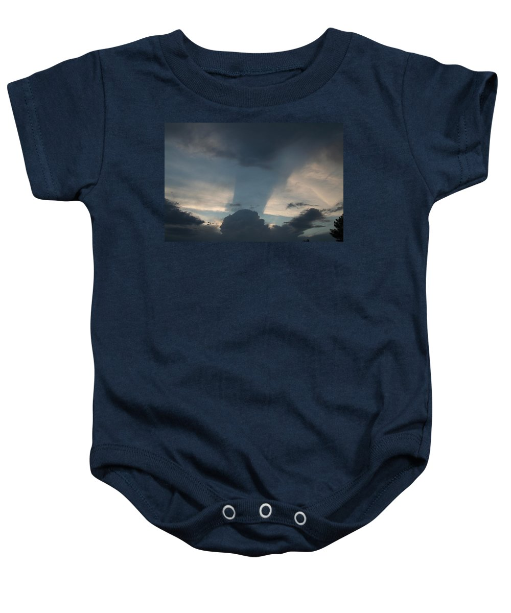 Sky Baby Onesie featuring the photograph Cloud Shadow by David S Reynolds