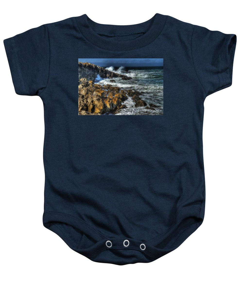 Beach Baby Onesie featuring the photograph Coast 6 by Ingrid Smith-Johnsen