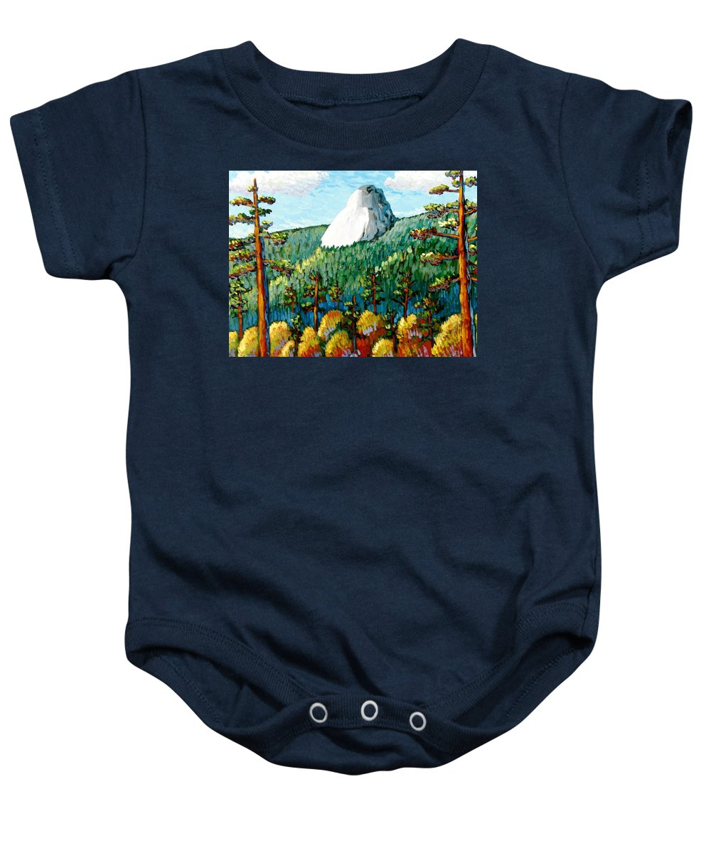 Colorful Landscape Baby Onesie featuring the painting Colorful View Of Idyllwild California by Gerry High
