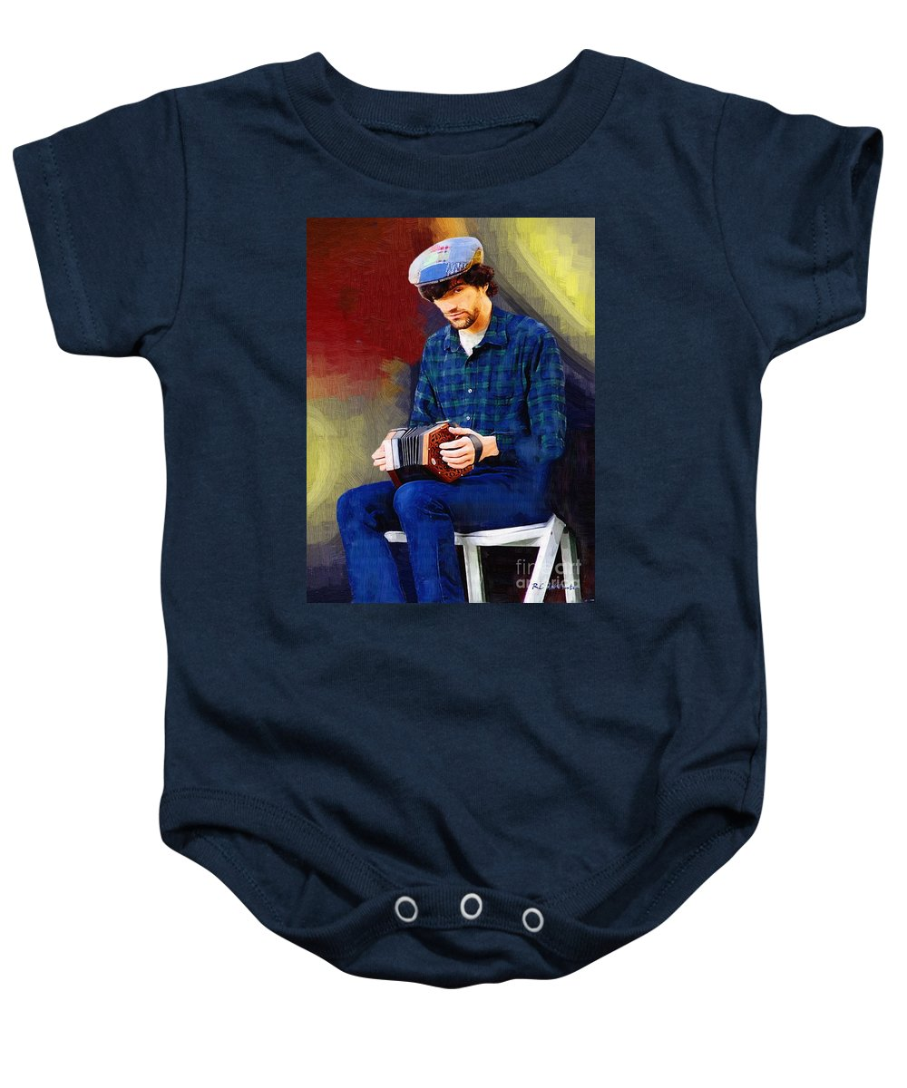 Man Baby Onesie featuring the painting Connection by RC DeWinter