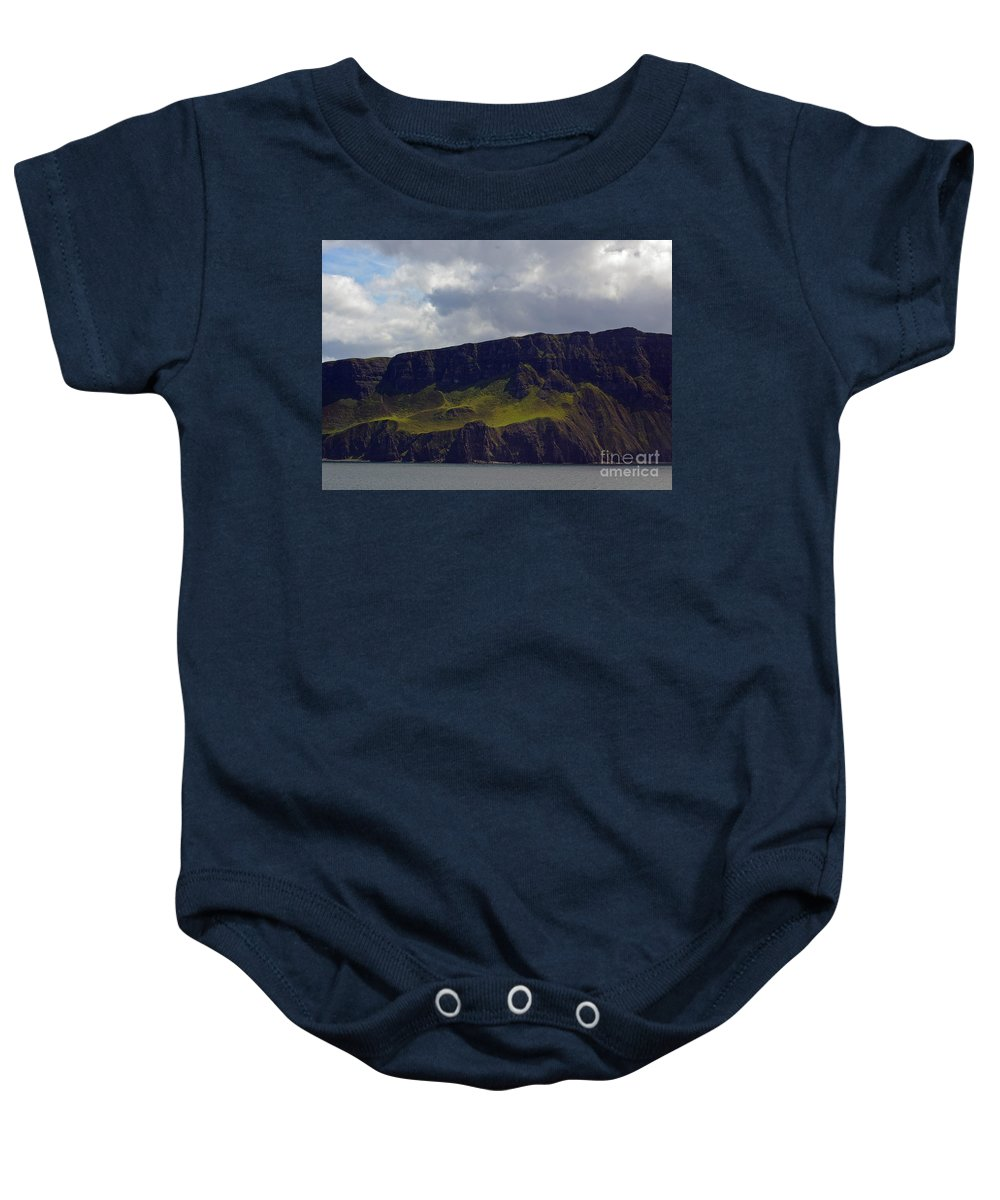 Scotland Baby Onesie featuring the photograph Craggy Coast 9 by Nancy L Marshall