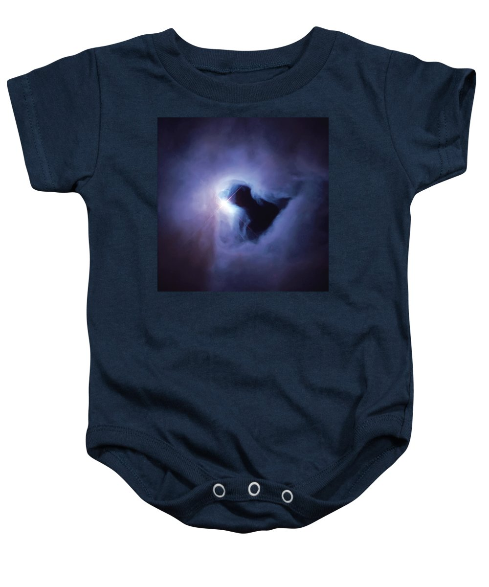 Nebula Baby Onesie featuring the photograph Dark Nebula Cloud by Jennifer Rondinelli Reilly - Fine Art Photography