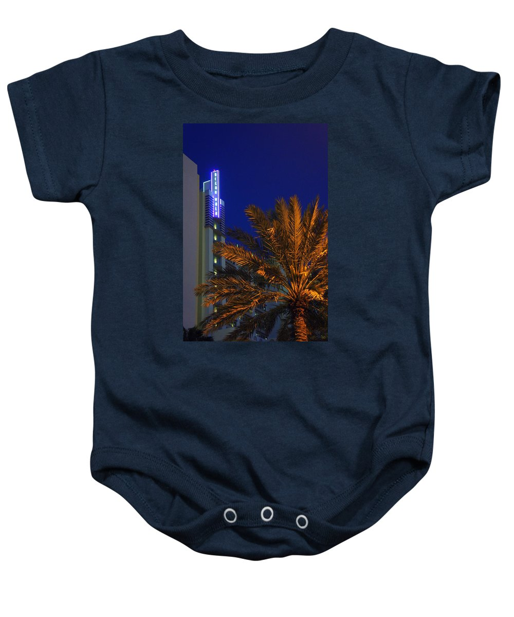 Daytona Beach Baby Onesie featuring the photograph Daytona Rest Stop by Laurie Perry