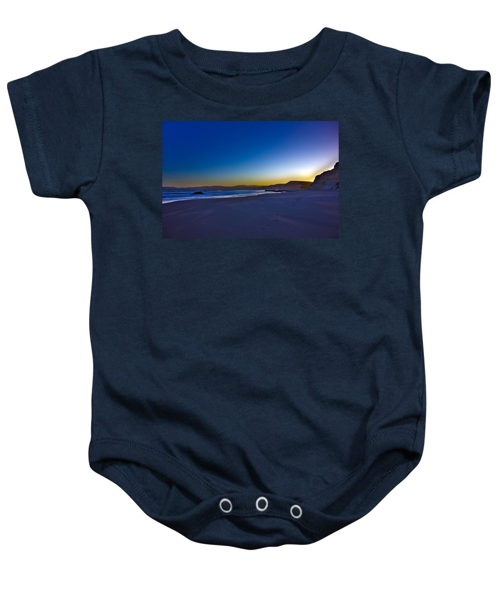 Hdr Baby Onesie featuring the photograph Drake's Beach Hdr by Josh Bryant