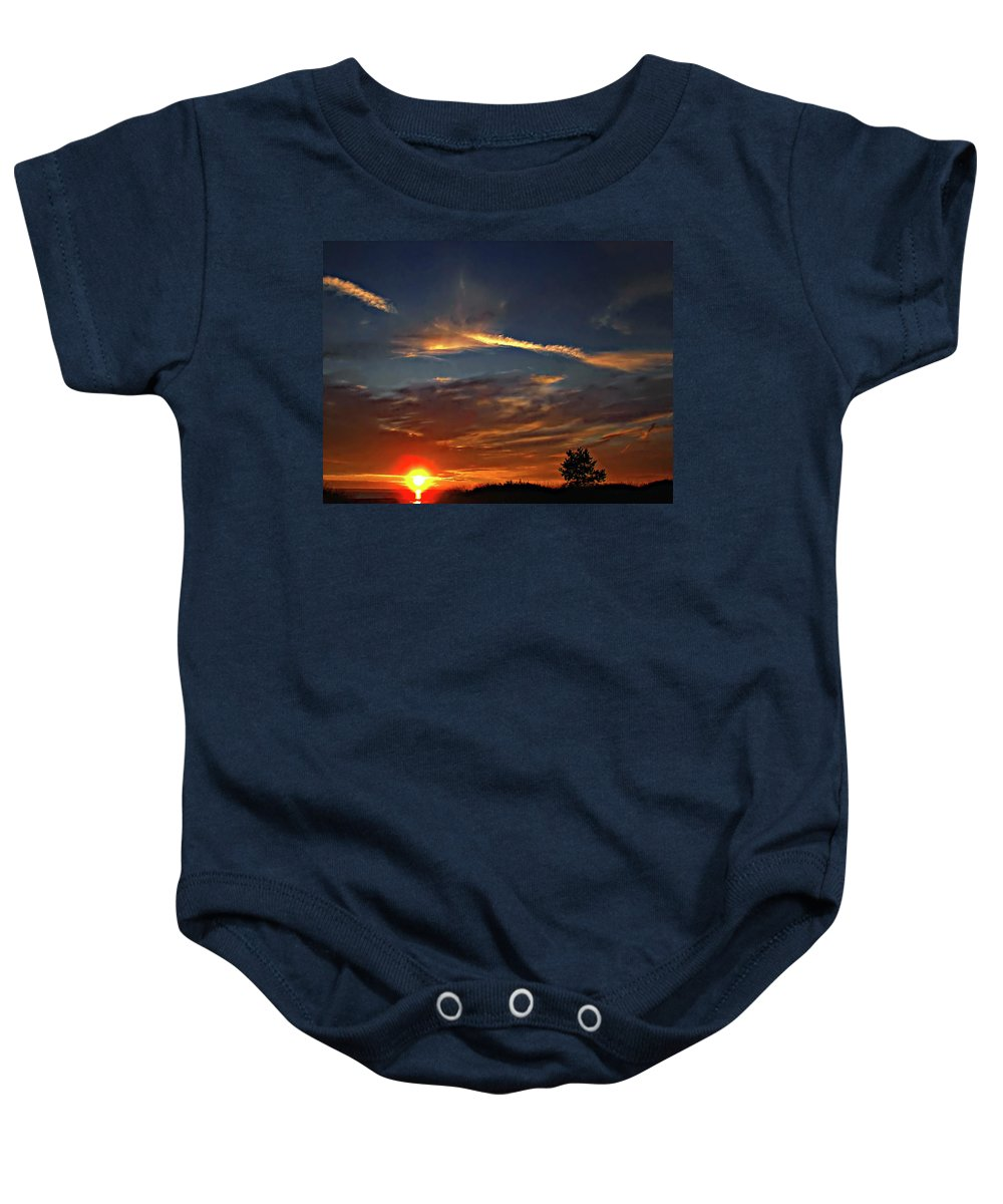 Sauble Beach Baby Onesie featuring the photograph Dune Dreaming by Steve Harrington