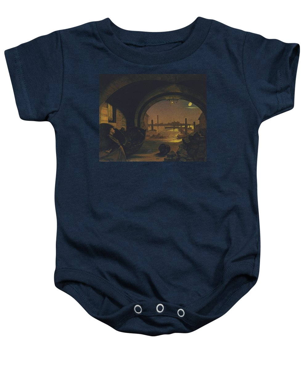 Augustus Leopold Egg Baby Onesie featuring the painting Past And Present by Celestial Images
