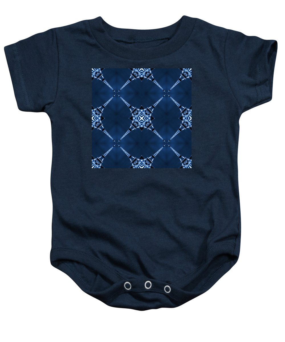 Abstract Baby Onesie featuring the photograph Eiffel Art 14 by Mike McGlothlen