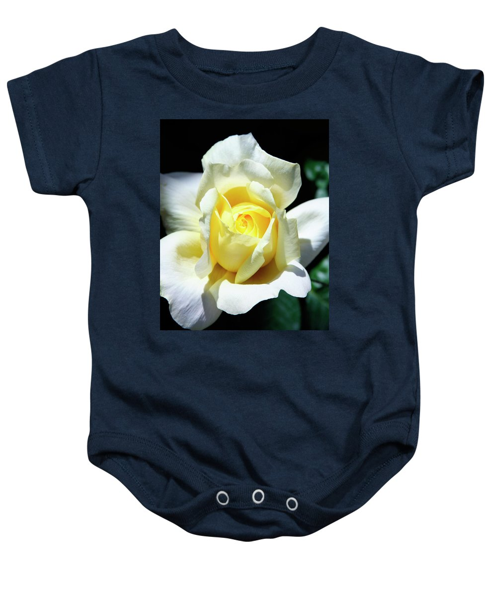 Rose Baby Onesie featuring the photograph Elegant Rose Palm Springs by William Dey