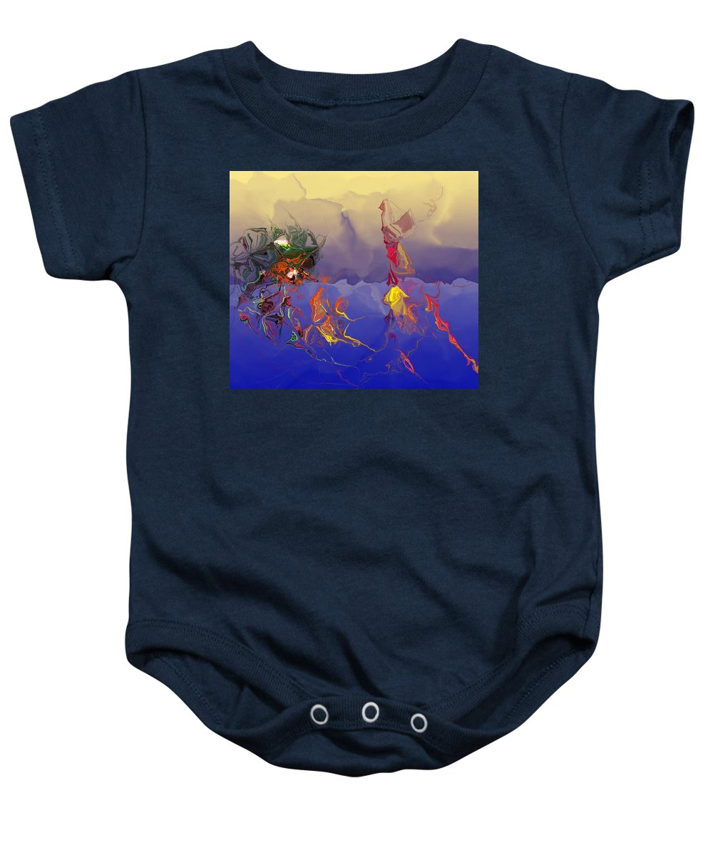 Abstract Baby Onesie featuring the digital art Evolution by David Lane