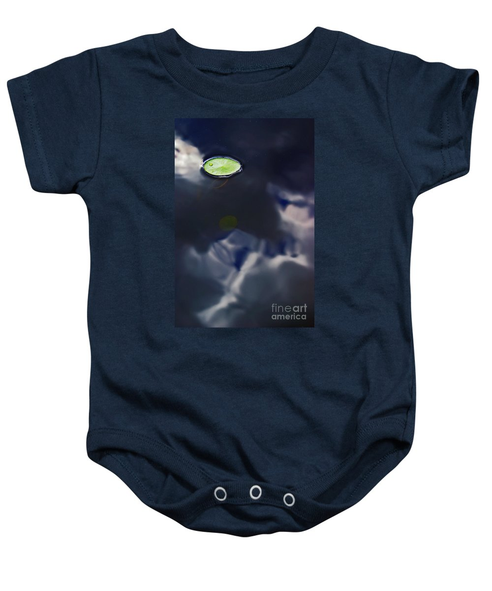 Reflection Baby Onesie featuring the photograph Eye In The Sky by Aimelle
