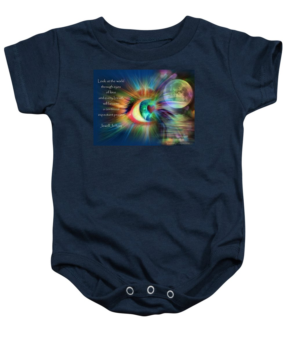 Eyes Baby Onesie featuring the digital art Eyes Of Love by Jewell McChesney
