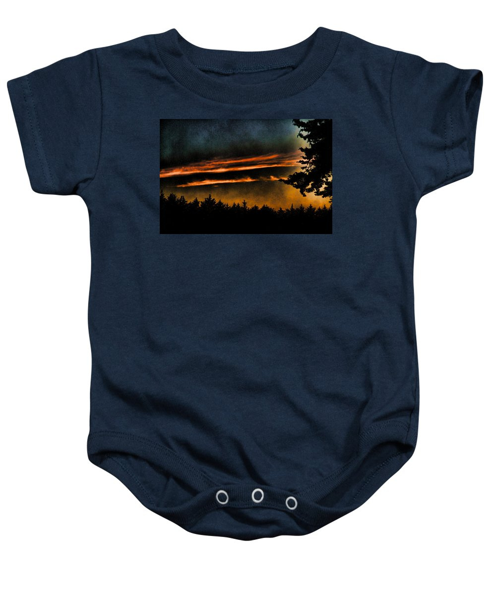 Clouds Baby Onesie featuring the photograph Fire Clouds by Agustin Uzarraga