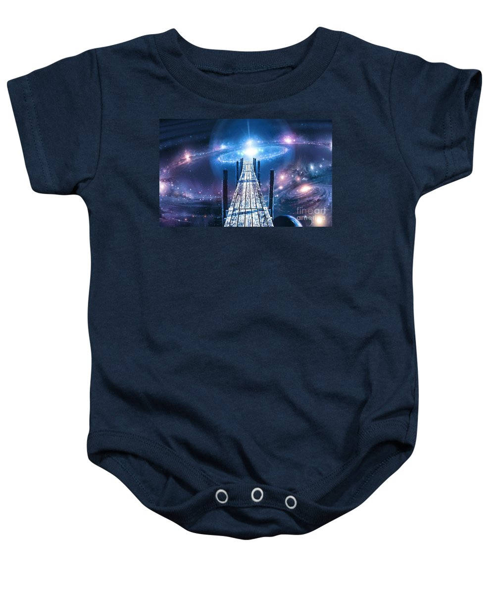 Galaxy Baby Onesie featuring the photograph First Contact by Andrea Kollo