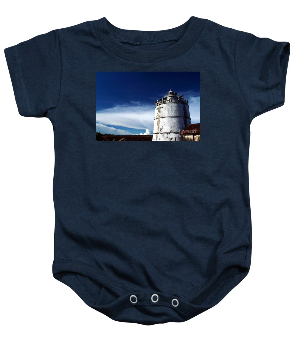 Fort Aguada Baby Onesie featuring the photograph Fort Aguada by Dattaram Gawade