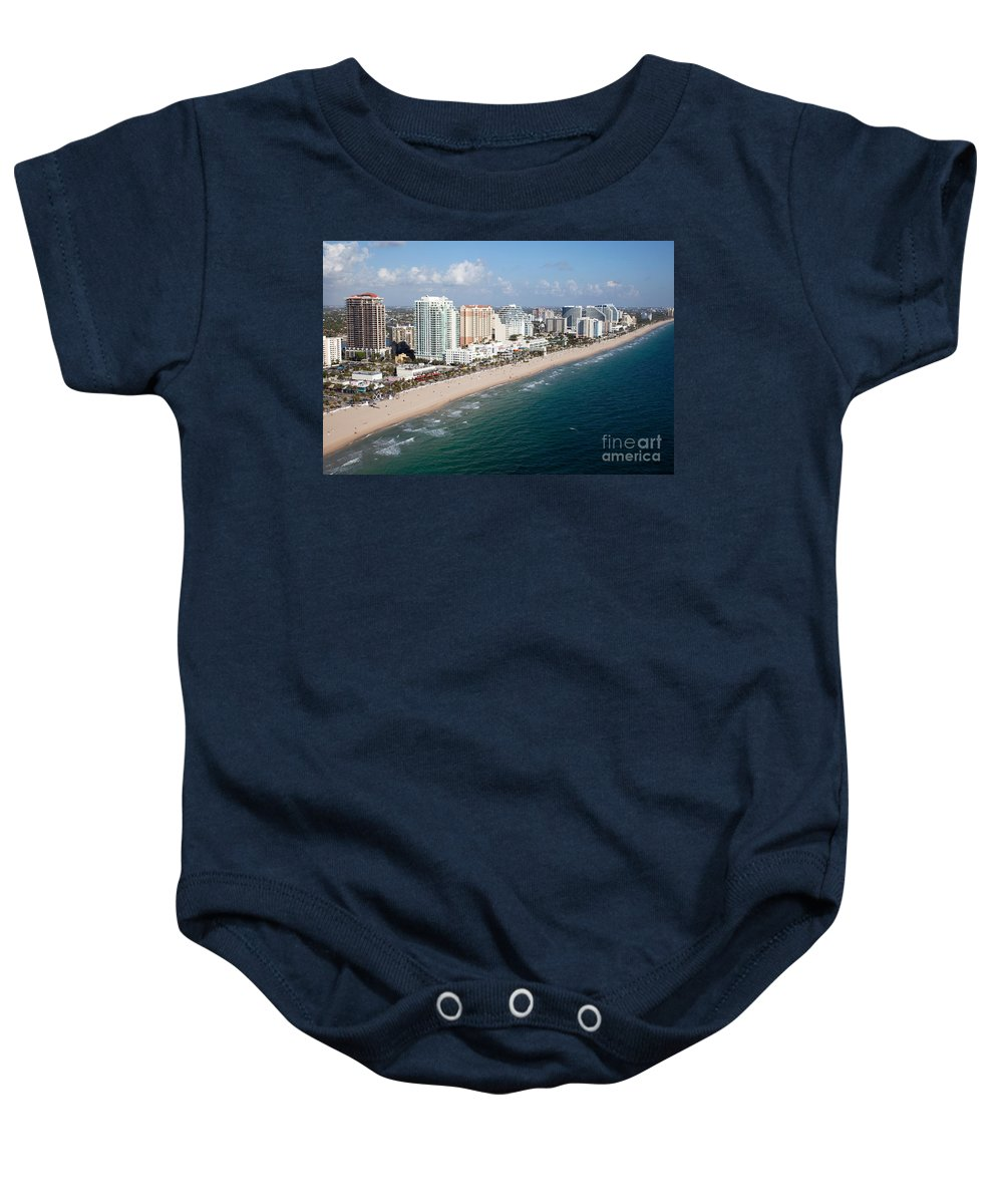 Florida Baby Onesie featuring the photograph Fort Lauderdale Beach by Bill Cobb