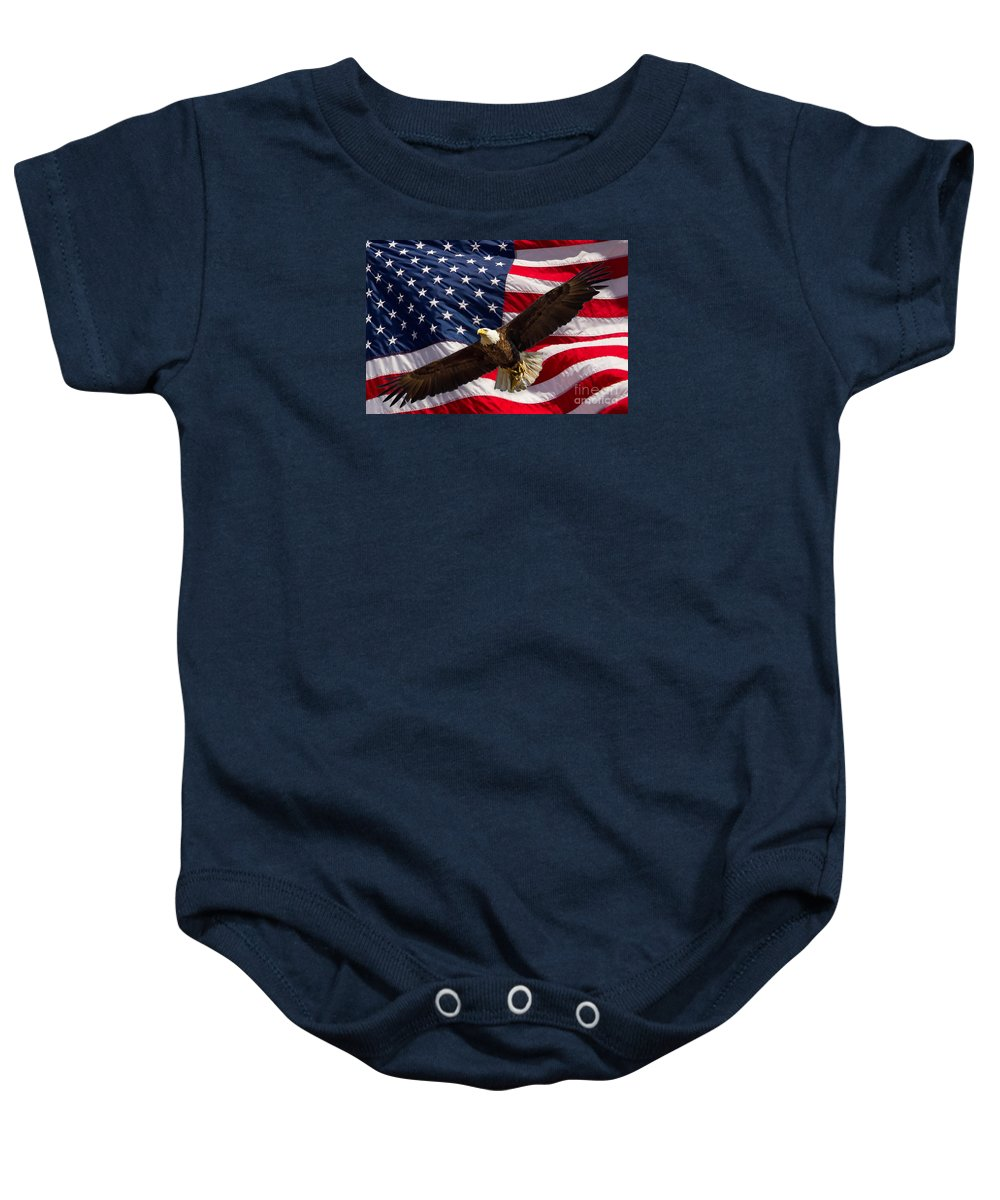 Usa Baby Onesie featuring the photograph Freedom by Alice Cahill