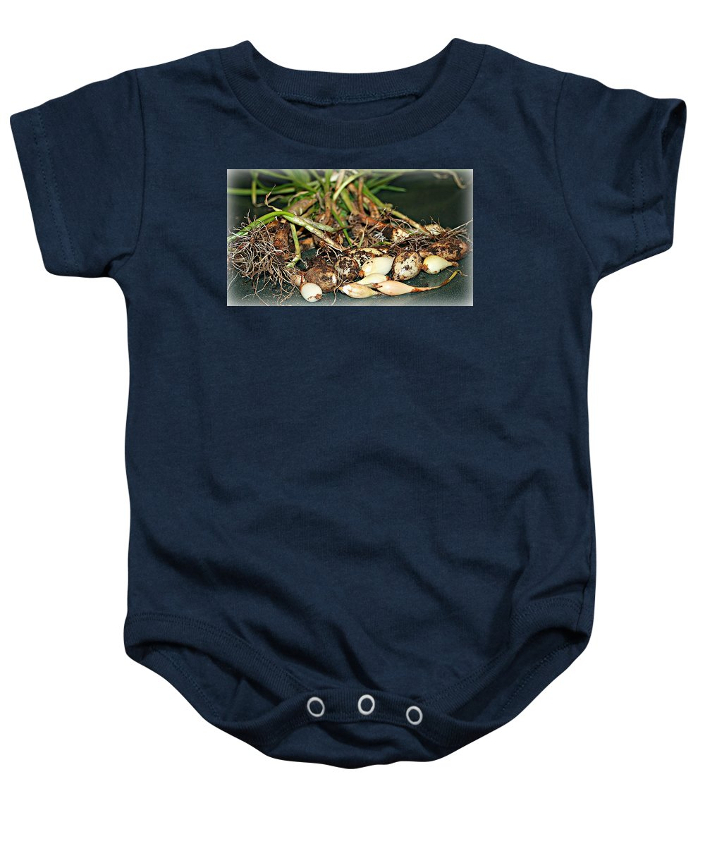 Macro Baby Onesie featuring the photograph From The Earth by Barbara S Nickerson
