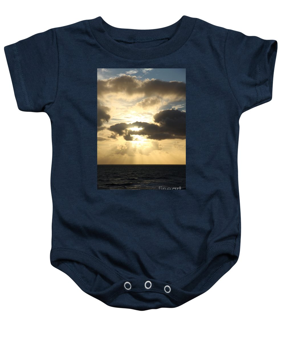 Sunrise Baby Onesie featuring the photograph Gold Coast Sunrise by Christiane Schulze Art And Photography