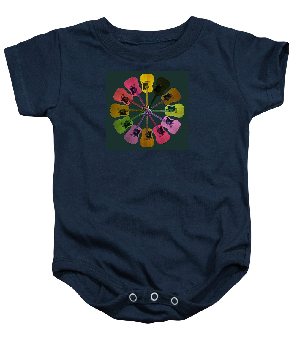 Guitar Baby Onesie featuring the photograph Guitar O Clock by C H Apperson