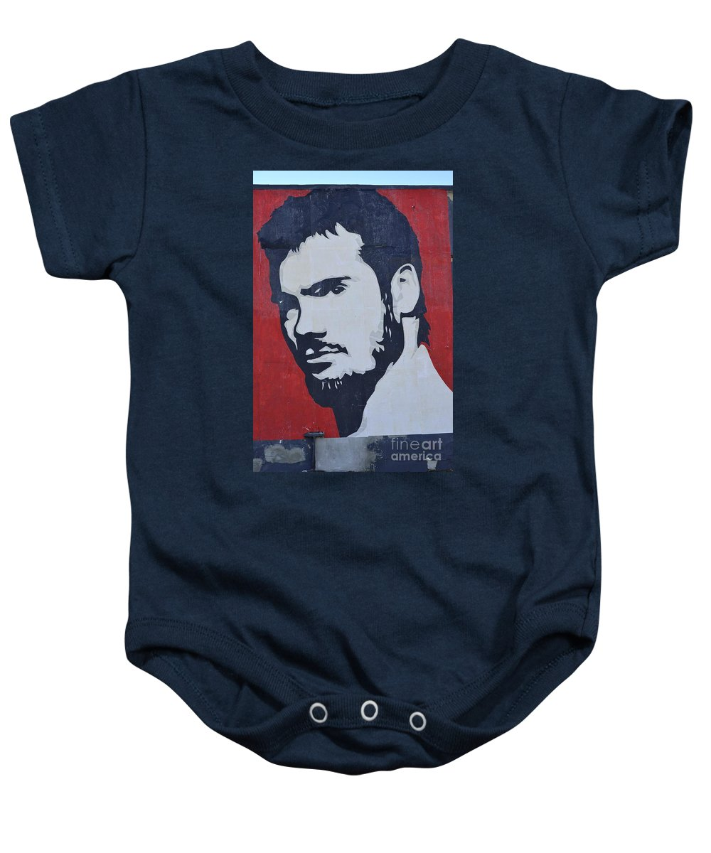 Shepard Fairey Baby Onesie featuring the photograph Henry Rollins by Allen Beatty
