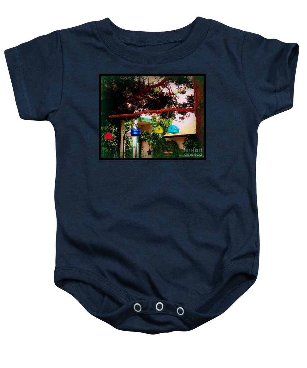 Quaint Baby Onesie featuring the photograph Home Americana by Bobbee Rickard